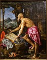 The Penitent Saint Jerome, by Alessandro Allori, Italian, 1606, oil on wood panel - Princeton University Art Museum - DSC06587.jpg