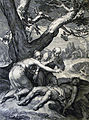 The Phillip Medhurst Picture Torah 38. Adam and Eve grieve over Abel. Genesis cap 4 v 8. Bloemaert.jpg