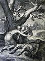 The Phillip Medhurst Picture Torah 38. Adam and Eve grieve over Abel. Genesis cap 4 v 8. Bloemaert.jpg