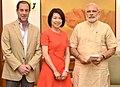 The President & CEO of Ruckus Wireless, Ms. Selina Lo calls on the Prime Minister, Shri Narendra Modi, in New Delhi on April 23, 2016 (1).jpg