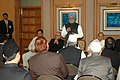 The Prime Minister, Dr. Manmohan Singh addressing the Haj Goodwill Delegation, in New Delhi on December 13, 2007.jpg