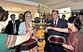 The Prime Minister, Shri Narendra Modi and the President of Tajikistan, Mr. Emomali Rahmon lighting the lamp at the India-Tajik Friendship Hospital, in Quarghan Teppa, Dushanbe, Tajikistan on July 13, 2015.jpg