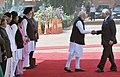 The Prime Minister, Shri Narendra Modi introducing the Prime Minister of Malaysia, Dato' Sri Mohd Najib Bin Tun Abdul Razak to the Indian dignitaries, at the ceremonial reception, at Rashtrapati Bhavan, in New Delhi.jpg
