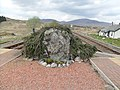 The Renton Memorial, Rannoch railway station, view north, West Highland Line, Scotland.jpg