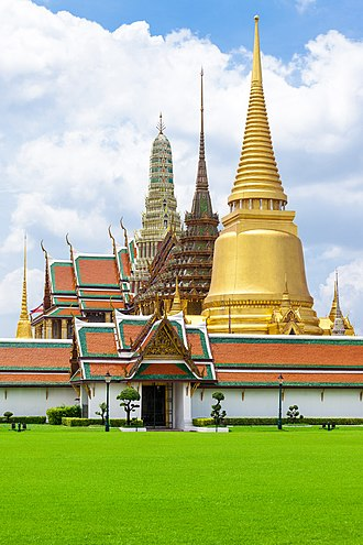 Buddhism in Thailand - Wat Phra Kaew, one of the most sacred wats in Bangkok