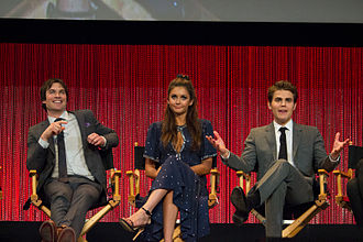 The Vampire Diaries - Ian Somerhalder, Nina Dobrev and Paul Wesley at PaleyFest 2014