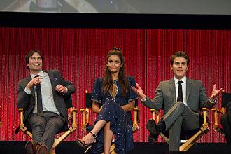 The Vampire Diaries - Ian Somerhalder, Nina Dobrev and Paul Wesley at PaleyFest 2014