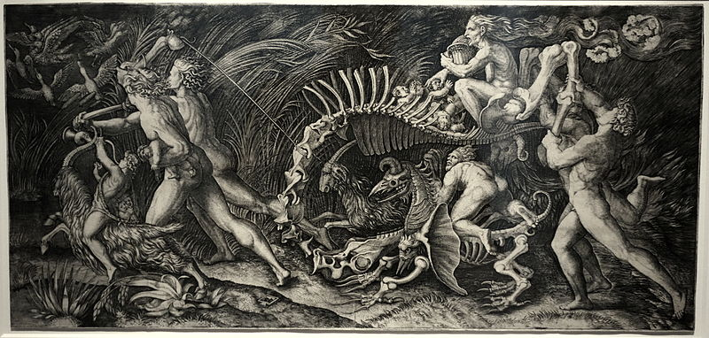 File:The Witches Rout (Lo Stregozzo), by Marcantonio Raimondi and Agostino Veneziano, engraving - National Museum of Western Art, Tokyo - DSC08256.JPG