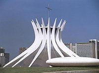 A Catedral de Brasília.