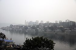 A review of Hechuan city at the meeting point of Jialing River and Fu River