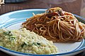 The pasta of a sand bar and the tomato & risotto of the saffron (6917426318).jpg