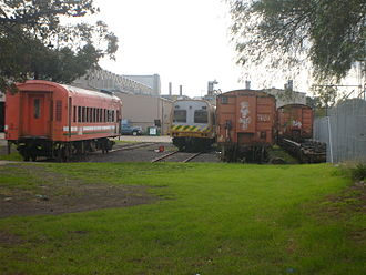 Newport Workshops - South end of Newport Workshops, Downer Rail section in June 2008