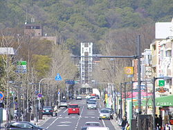The street in front of Okayama University..JPG