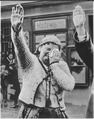 The tragedy of this Sudeten woman, unable to conceal her misery as she dutifully salutes the triumphant Hitler, is... - NARA - 535897.tif
