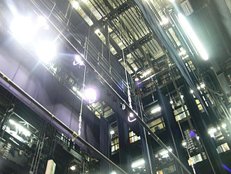 Fly system - Fly loft of the Theater Bielefeld in Germany