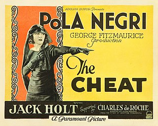 <i>The Cheat</i> (1923 film) 1923 film by George Fitzmaurice