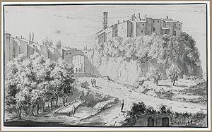 Theodoor Wilkens - Washing place outside Italian town, 1729