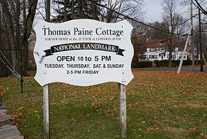 Thomas Paine Cottage - Image: Thomas Paine Cottage Sign 2007