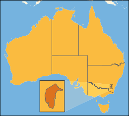 Tigris-Australia location Australian Capital Territory.svg
