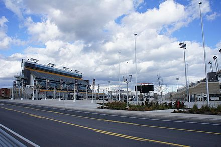 Tim Hortons Field is a multi-purpose stadium in Hamilton. It is presently used as the home stadium for the CFL's Hamilton Tiger-Cats. Tim Hortons Field Exterior.JPG
