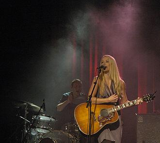 Tina Dico - Tina Dickow in concert in Det Musiske Hus in Frederikshavn, Denmark, 3 February 2008