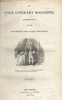 Title page first volume Yale Literary Magazine 1836.jpg