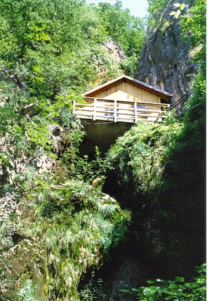 Operation Rösselsprung (1944) - Tito's cave headquarters in 1990