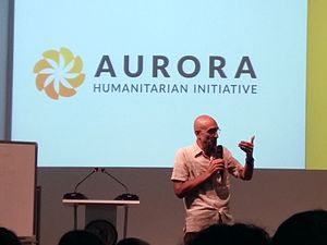 "Tom Catena - Tom Catena visiting Yerevan to receive the Aurora Prize for Awakening Humanity. Catena giving speech ""Gratitude in action"" at Yerevan State Medical University, May 2017"