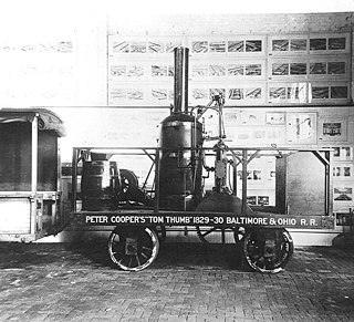 <i>Tom Thumb</i> (locomotive) American-built steam locomotive