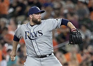 Tommy Hunter (baseball) - Hunter with the Tampa Bay Rays in 2017