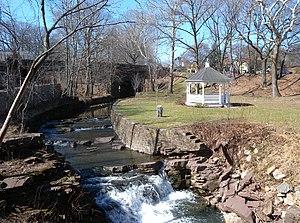 Glen Ridge, New Jersey - Toney's Brook flowing through The Glen in Glen Ridge