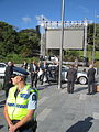 Tony Abbott arrives at Dedication of the Australian Memorial.JPG