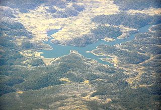 Tooma Dam dam in Snowy Mountains, New South Wales