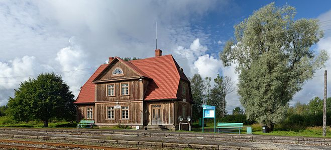 Tootsi station building (Estonia), built in 1927 (typical project from Leon Johanson).