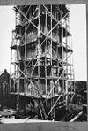 toren tijdens restauratie, reproductie van foto - monster - 20160311 - rce