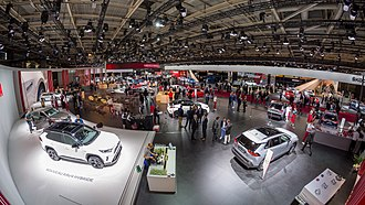 Paris Motor Show - Toyota and Skoda stands during the 2018 edition