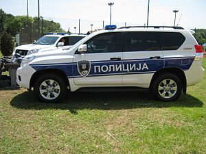 Law enforcement in Serbia - Image: Toyota of Serbian Police