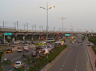 Rajiv Gandhi Salai - Image: Traffic in IT corridor