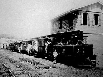 Transportation in Puerto Rico - 19th century train station in Yauco