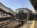 Train for Tara Station at Hizen-Yamaguchi Station.jpg