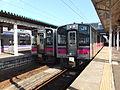 Trains at Omagari Station 20130920.jpg