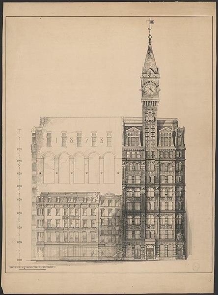 file tribune building new york city preliminary. Black Bedroom Furniture Sets. Home Design Ideas
