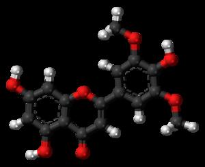 Tricin - Image: Tricin molecule ball