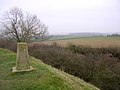Trig point on the rampart of Spettisbury Rings - geograph.org.uk - 26249.jpg