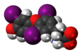 Triiodothyronine zwitterion 3D spacefill.png