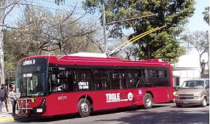 DINA S.A. - A Dina Electric Trolleybus in Guadalajara