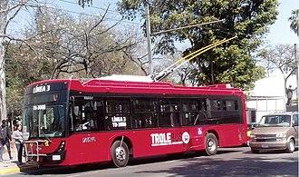 DINA S.A. - A Dina Electric Trolleybus in Guadalajara