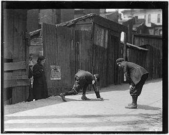 Craps - Craps being played by children in a street in St Louis, Missouri, circa 1912