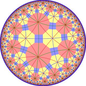 Truncated tetrahexagonal tiling - Image: Truncated tetrahexagonal tiling with mirrors