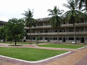 Tuol Sleng Genocide Museum - The exterior of the Tuol Sleng Genocide Museum, Phnom Penh